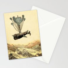 whale flight I Stationery Cards