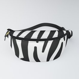 abstract modern safari animal black and white zebra print Fanny Pack