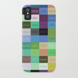 Colored life quotes iPhone Case