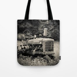Old Vintage Farm Tractor Tote Bag