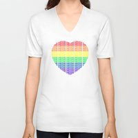 pride V-neck T-shirts featuring Pride by Tony Vazquez