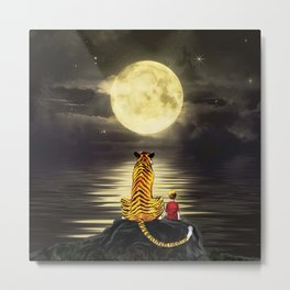 both with bright moon Metal Print