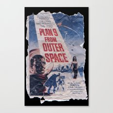 Plan 9 From Outer Space: Pulped Fiction edition Canvas Print