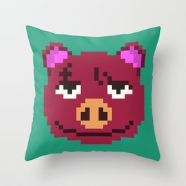 Rasher (Animal Crossing) Throw Pillow