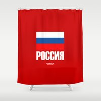 russia Shower Curtains featuring Russia. by Skiller Moves