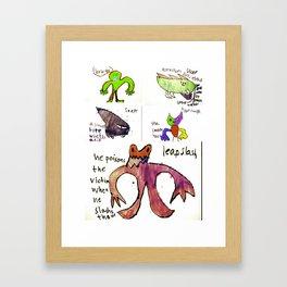 All Monsters LARGE Framed Art Print