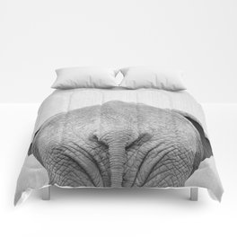 Elephant Tail - Black & White Comforters
