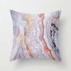 Crazy lace agate Throw Pillow
