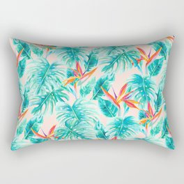 Tropical Paradise Pale Peach Rectangular Pillow