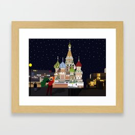 Love at the Moscow Kremlin Framed Art Print