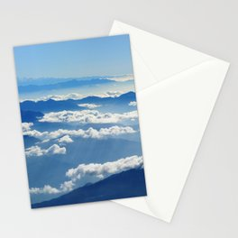 Mountains and Clouds in Nepal Stationery Cards