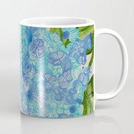 Blue Drip Hydrangea Coffee Mug