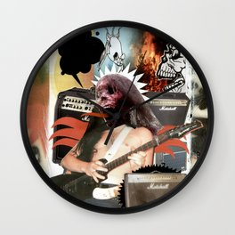 COLLAGE: Heavy Metal Wall Clock