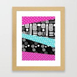 Pattern Mix Framed Art Print