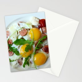 fried egg Stationery Cards