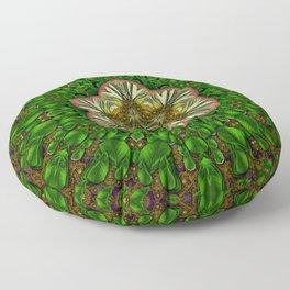 Gothic  metal and golden fresh meditative flowerpower Mandala Floor Pillow