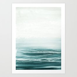 hazy emerald sea Art Print