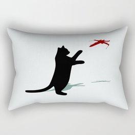 Cat and X-Wing Rectangular Pillow