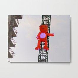 High There Bear Metal Print