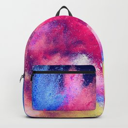 Powder Dust Explosion Nebula of Colors Backpack