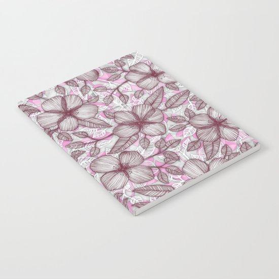 Spring Blossom in Marsala, Pink & Plum Notebook