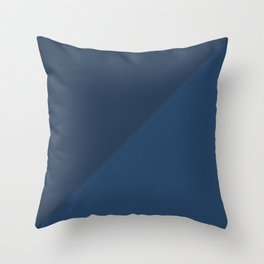 Blue Triangle V1 Throw Pillow