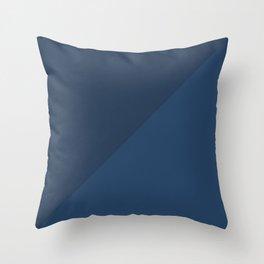 Blue Triangle V1 Throw Pillow
