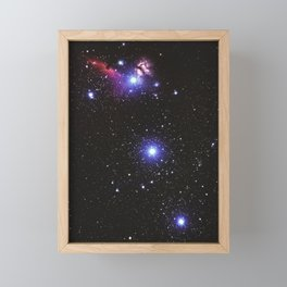 Glitter Galaxy Framed Mini Art Print