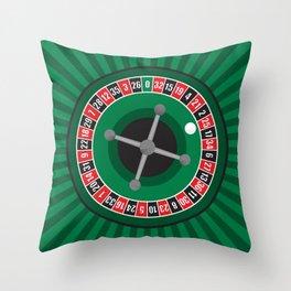 Roulette Wheel Throw Pillow