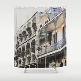 New Orleans Throwback Shower Curtain