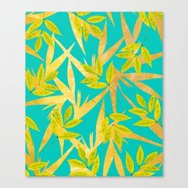 Gold & Teal Florals #society6 #decor #buyart Canvas Print