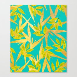 Gold & Teal Florals #society6 #decor #buyart Canvas Print