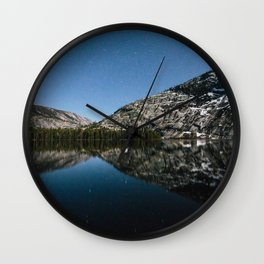 Merced Lake Night Wall Clock