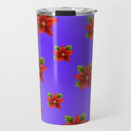 Red Flowers Pattern 3 Travel Mug