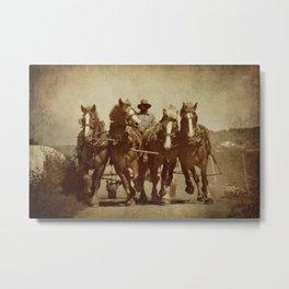 Team Of Horses Metal Print