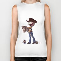 toy story Biker Tanks featuring Woody Toy Story by Kaori