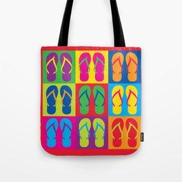 Pop Art Flip Flops Tote Bag