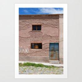 Bolivia door 4 Art Print
