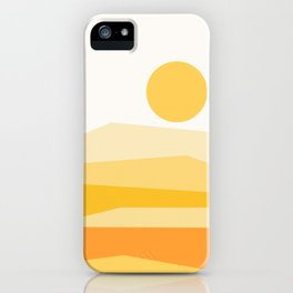 Abstract Landscape 09 Yellow iPhone Case