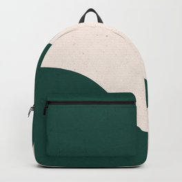 Emerald green abstract art Backpack