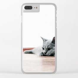 Super Cute Kitten Clear iPhone Case