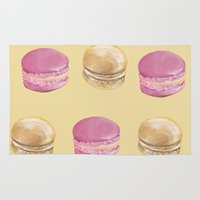 macaron Area & Throw Rugs featuring Macaron, Macaron by Malina Syvo