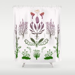 Plants, Decay Shower Curtain