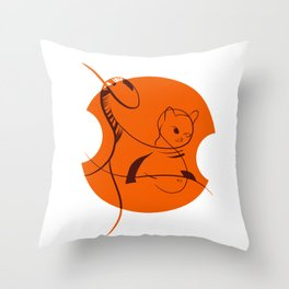 Cat in Lines Throw Pillow