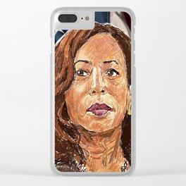 Kamala Harris Clear iPhone Case