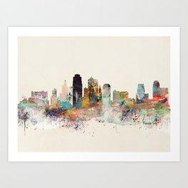 kansas city missouri Art Print