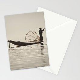 Fisherman at Inle Lake Stationery Cards
