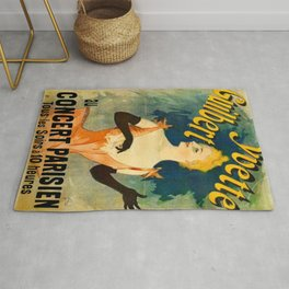 Yvette Guilbert 1891 By Jules Cheret | Reproduction Art Nouveau Rug
