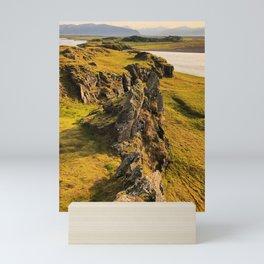 Icelandic Coastal Landscape Mini Art Print