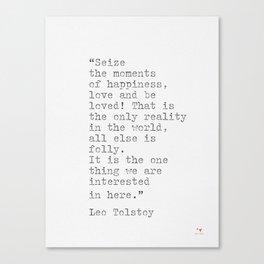 Leo Tolstoy Literacy Canvas Print